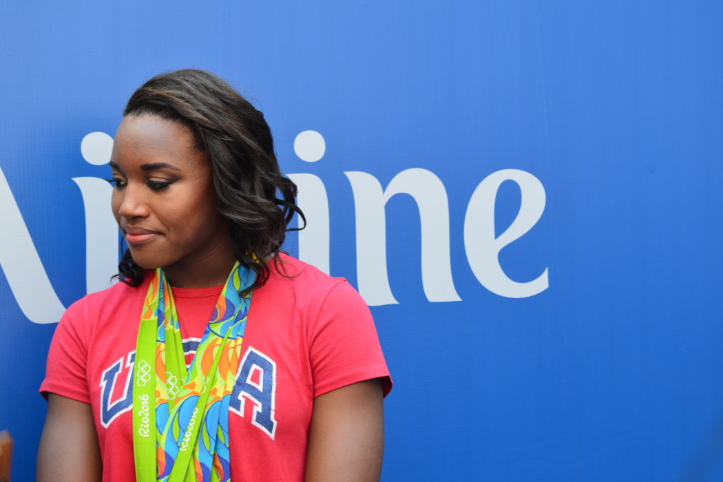 Simone Manuel at Arthur Ashe Kids Day 2016!  Photo Credit: Kimberly Strong