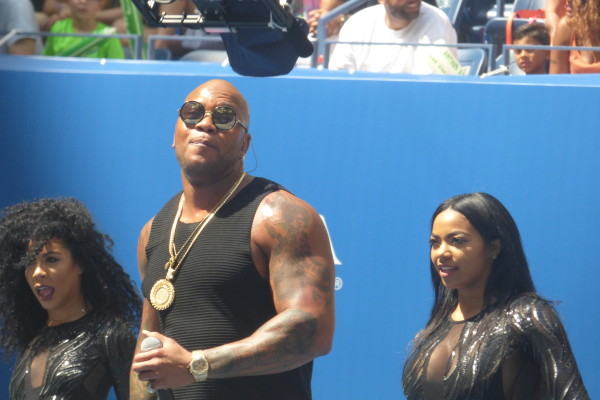 Flo Rida performing at Arthur Ashe Kids' Day 2016.  Photo Credit: Mary Ayers