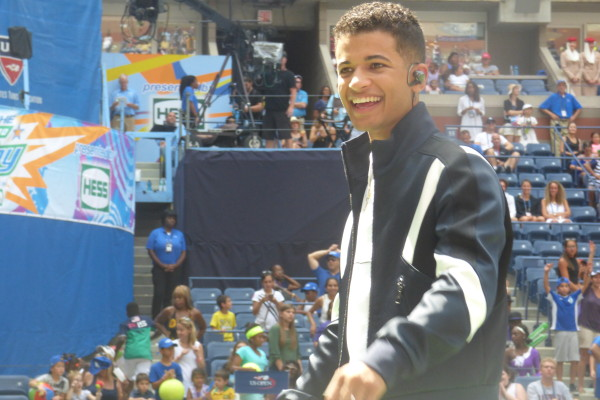 Jordan Fisher at Arthur Ashe Kids' Day 2016!  Photo Credit: Mary Ayers