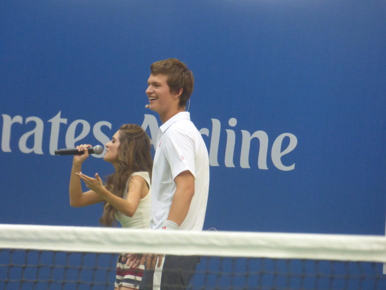 Ansel Elgort Shows Off His Tennis Skills & More at Arthur ...
