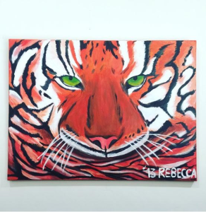 """Eye of the Tiger."" - Rebecca"