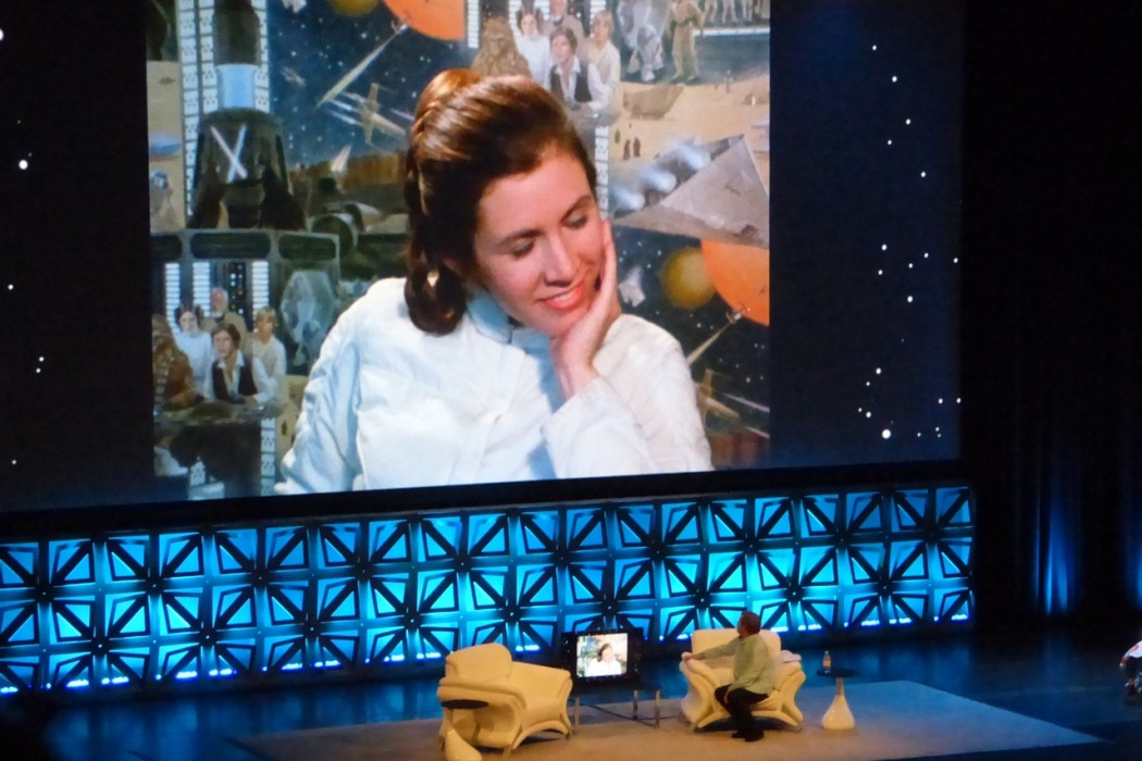 Mark Hamill during his tribute to Carrie Fisher.