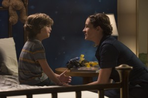 "Download Jacob Tremblay as ""Auggie"" and Julia Roberts as ""Isabel"" in WONDER. Photo by Dale Robinette."