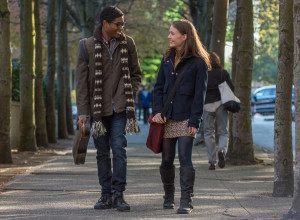 "Nadji Jeter as ""Justin"" and Izabela Vidovic as ""Via"" in WONDER. Photo by Dale Robinette."